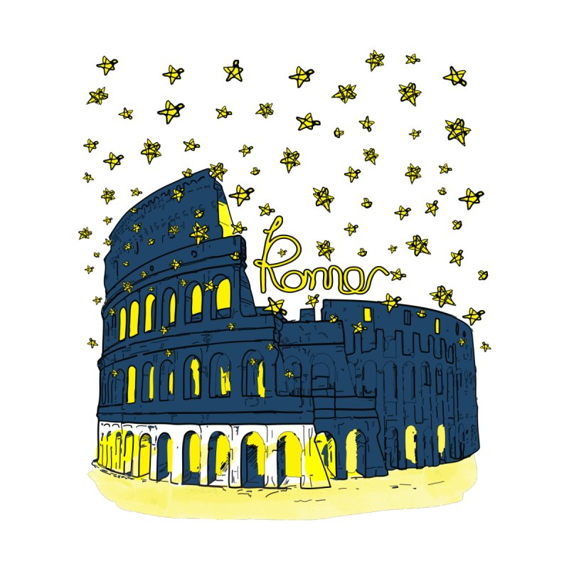 Rome Colosseum starry night by cindyshim's Artist Shop