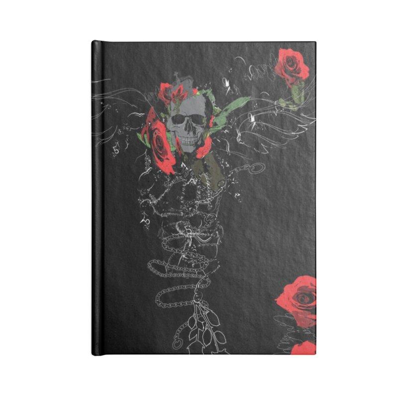 Skull dark art I Accessories Lined Journal Notebook by cindyshim's Artist Shop