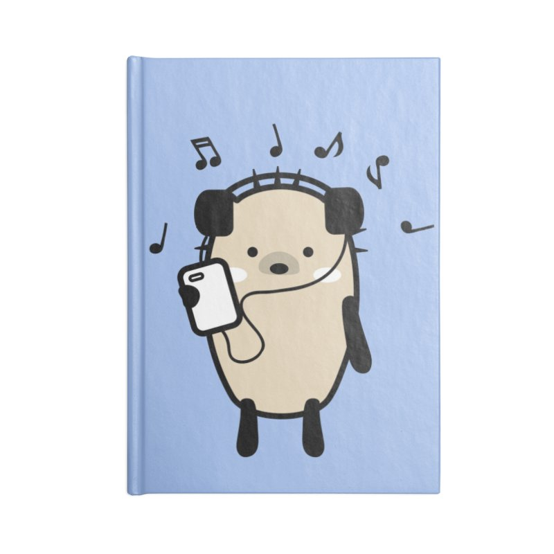 Mochie love music Accessories Lined Journal Notebook by cindyshim's Artist Shop