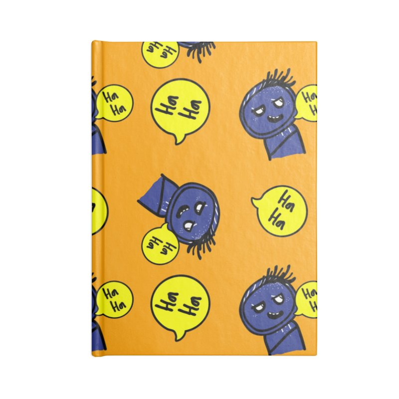 Ha Ha Accessories Blank Journal Notebook by cindyshim's Artist Shop