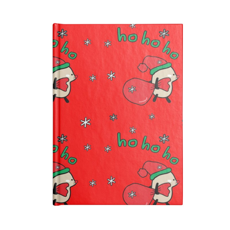 Mochie ho ho ho Accessories Lined Journal Notebook by cindyshim's Artist Shop