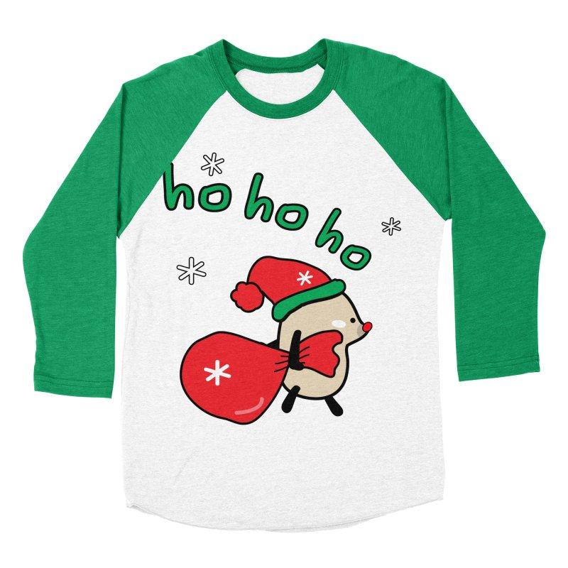 Mochie ho ho ho Women's Baseball Triblend Longsleeve T-Shirt by cindyshim's Artist Shop