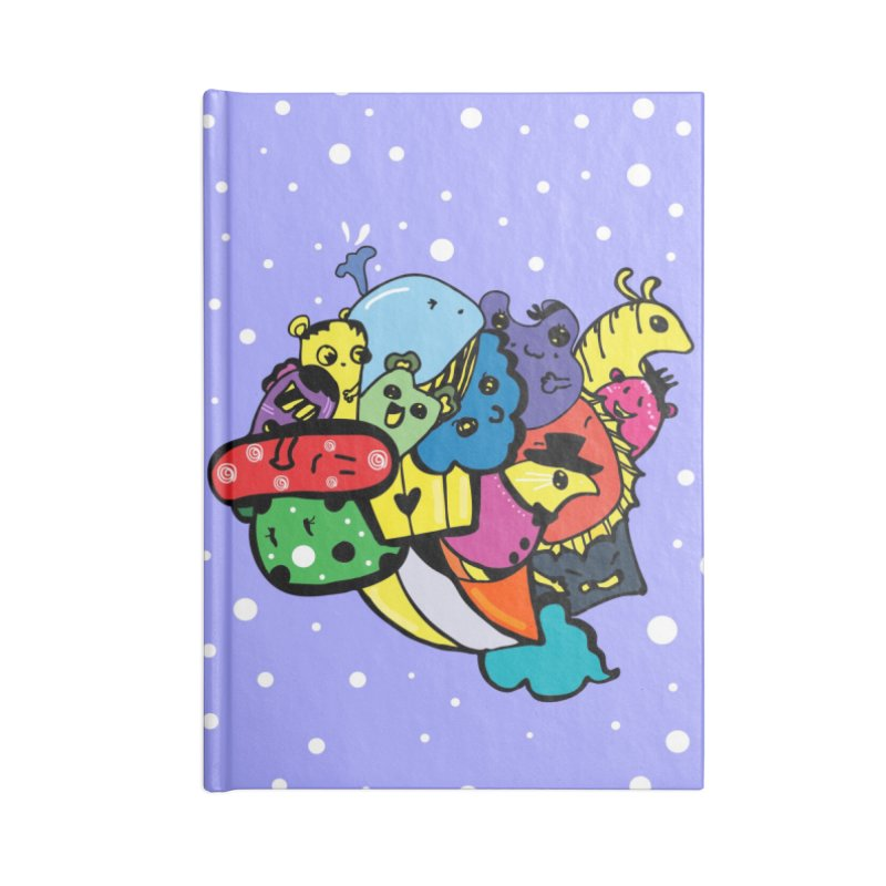 Doodle monsters Accessories Lined Journal Notebook by cindyshim's Artist Shop