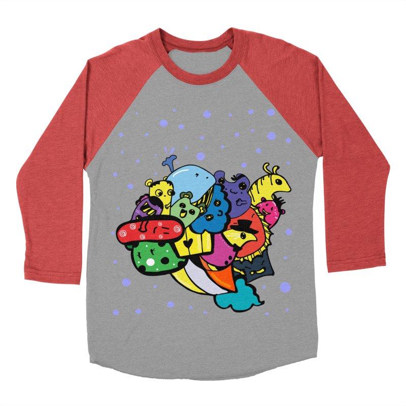 Doodle monsters Women's Baseball Triblend Longsleeve T-Shirt by cindyshim's Artist Shop