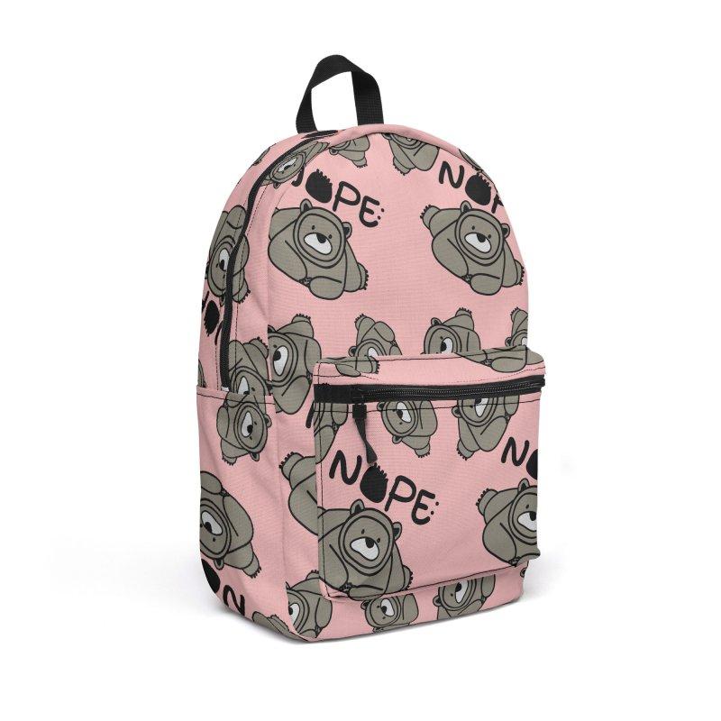 Nope Polar bear Accessories Backpack Bag by cindyshim's Artist Shop