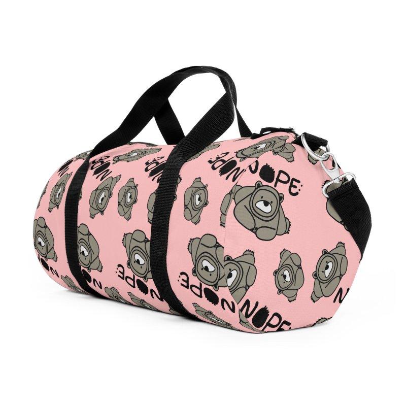 Nope Polar bear Accessories Duffel Bag Bag by cindyshim's Artist Shop