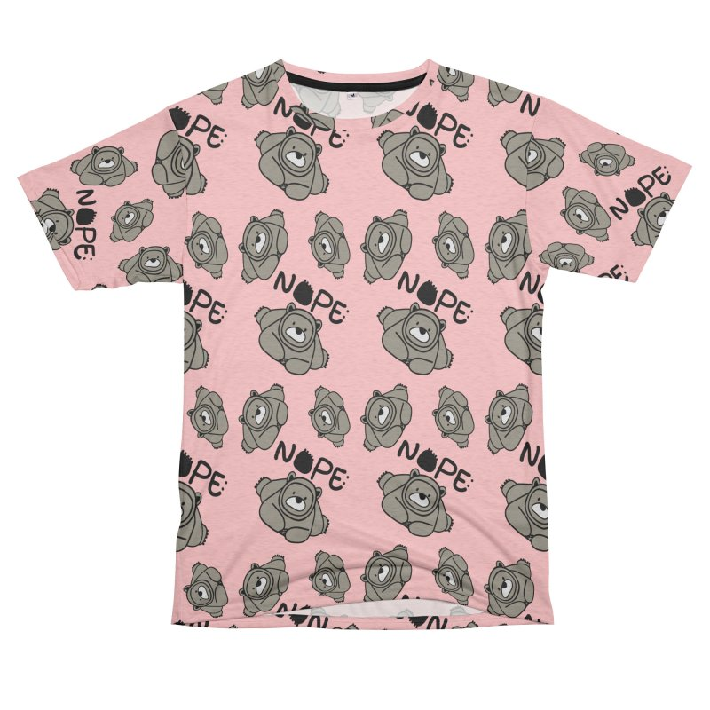 Nope Polar bear Women's Unisex French Terry T-Shirt Cut & Sew by cindyshim's Artist Shop