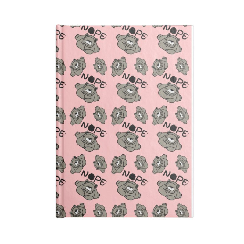 Nope Polar bear Accessories Blank Journal Notebook by cindyshim's Artist Shop