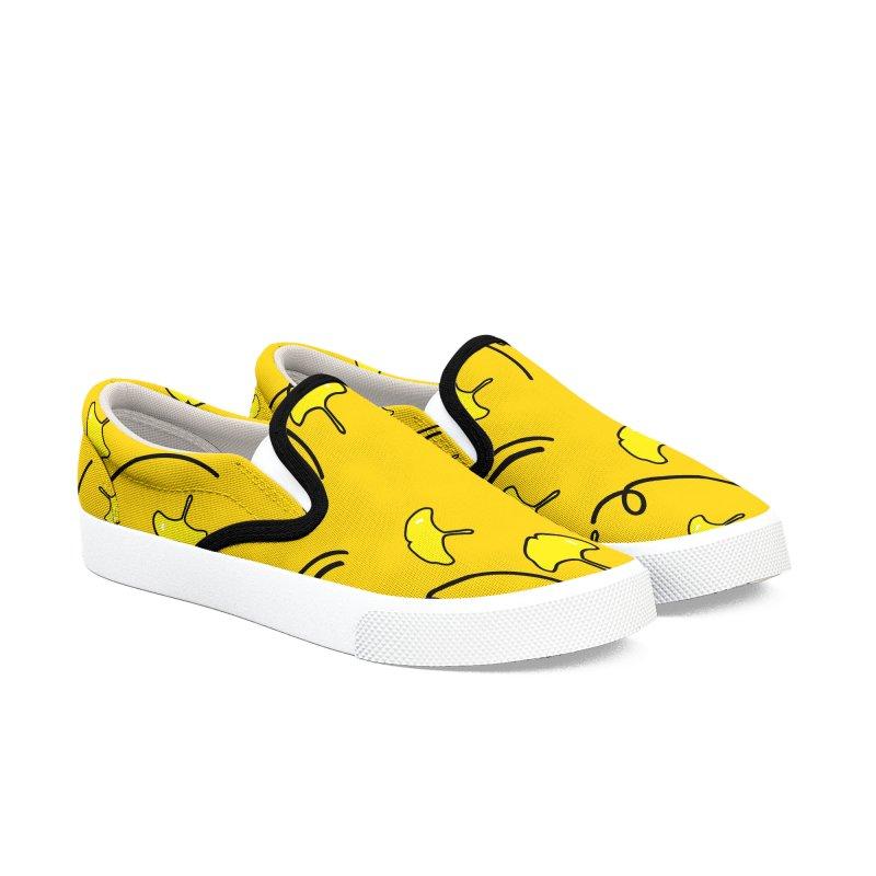 Autumn color leaves Women's Slip-On Shoes by cindyshim's Artist Shop
