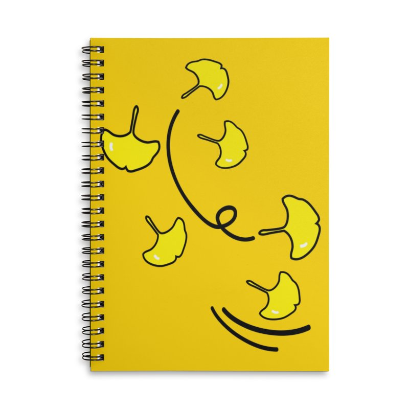 Autumn color leaves Accessories Lined Spiral Notebook by cindyshim's Artist Shop