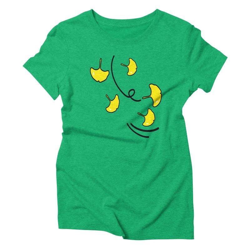 Autumn color leaves Women's Triblend T-Shirt by cindyshim's Artist Shop