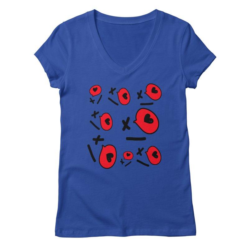 XO XO Women's Regular V-Neck by cindyshim's Artist Shop