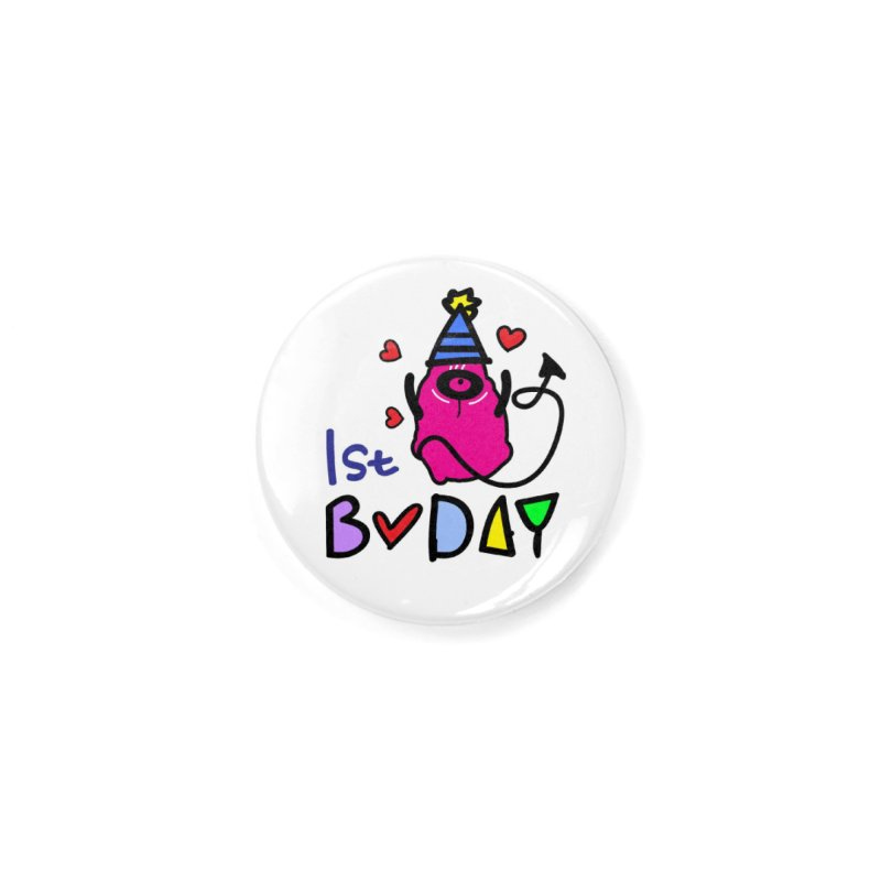 1st Birthday Monster Accessories Button by cindyshim's Artist Shop