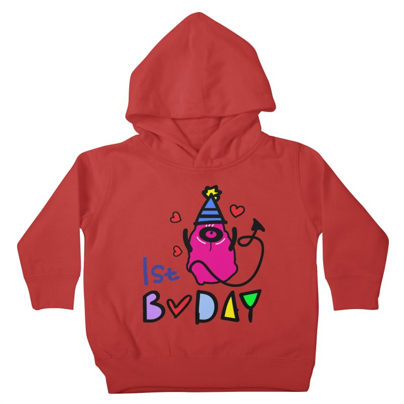 1st Birthday Monster Kids Toddler Pullover Hoody by cindyshim's Artist Shop