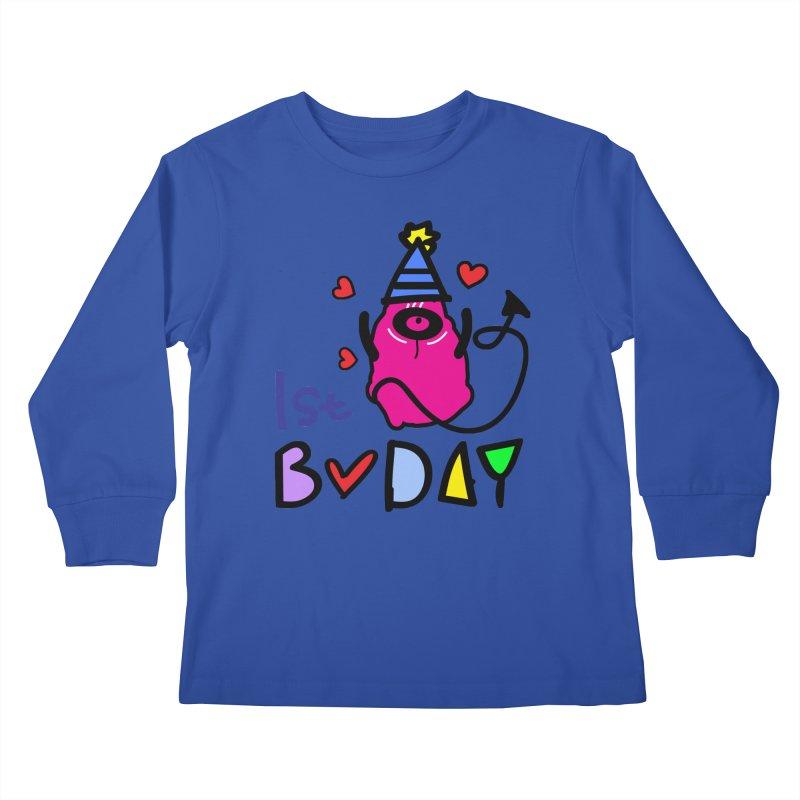 1st Birthday Monster Kids Longsleeve T-Shirt by cindyshim's Artist Shop