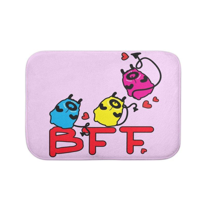 BFF MONSTERS Home Bath Mat by cindyshim's Artist Shop