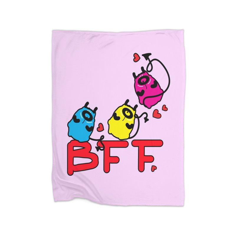 BFF MONSTERS Home Fleece Blanket Blanket by cindyshim's Artist Shop