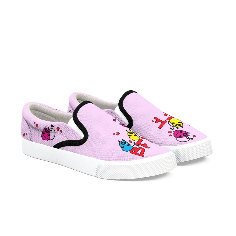 BFF MONSTERS Women's Slip-On Shoes by cindyshim's Artist Shop