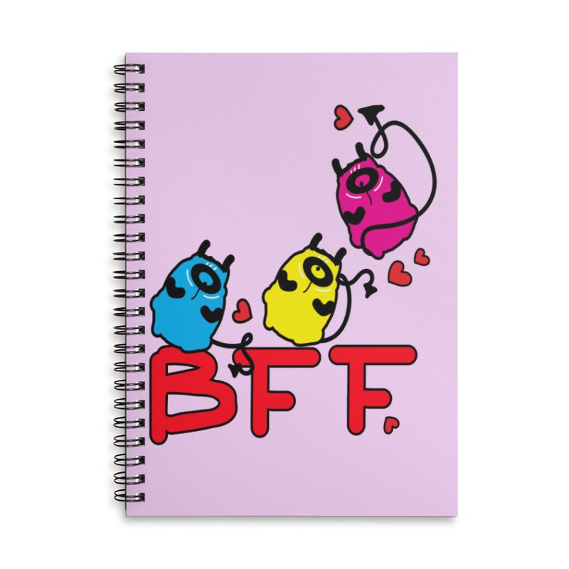 BFF MONSTERS Accessories Lined Spiral Notebook by cindyshim's Artist Shop