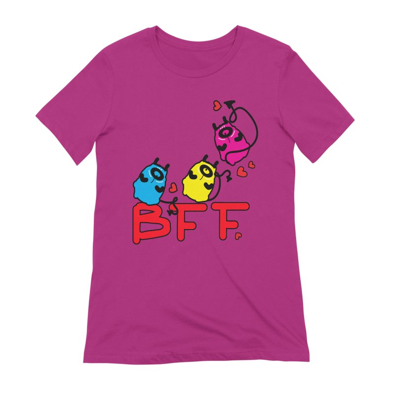 BFF MONSTERS Women's Extra Soft T-Shirt by cindyshim's Artist Shop