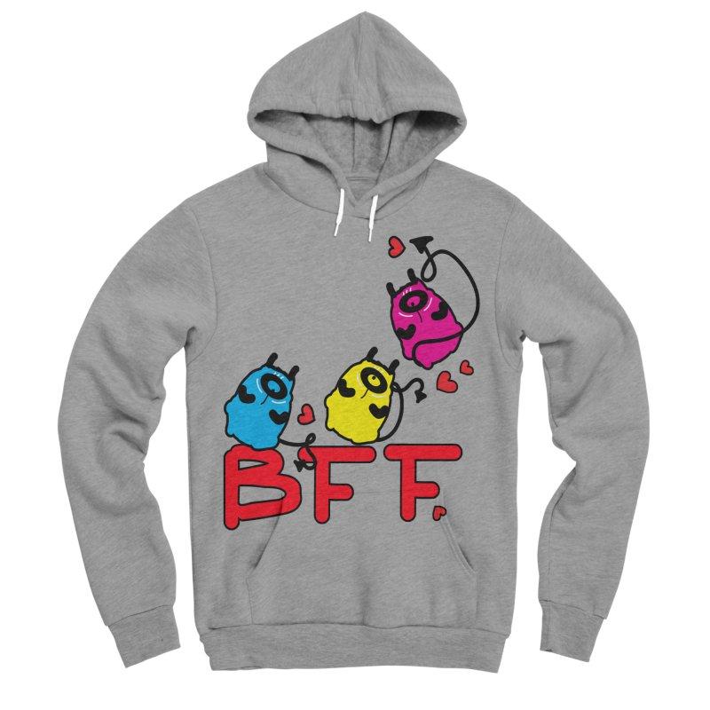 BFF MONSTERS Women's Sponge Fleece Pullover Hoody by cindyshim's Artist Shop