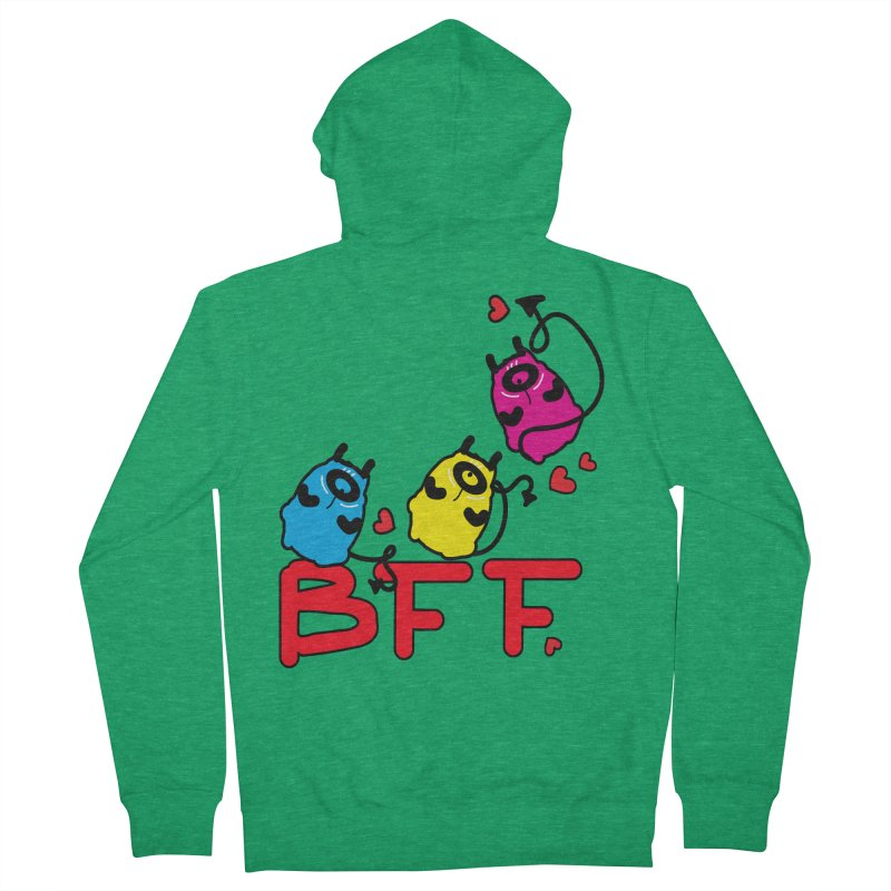 BFF MONSTERS Men's French Terry Zip-Up Hoody by cindyshim's Artist Shop