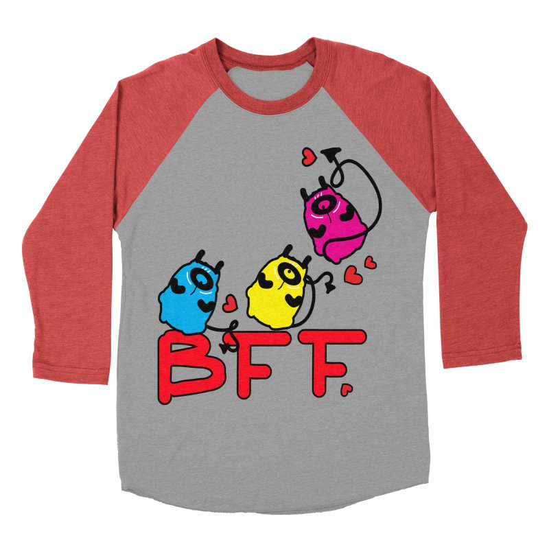 BFF MONSTERS Women's Baseball Triblend Longsleeve T-Shirt by cindyshim's Artist Shop