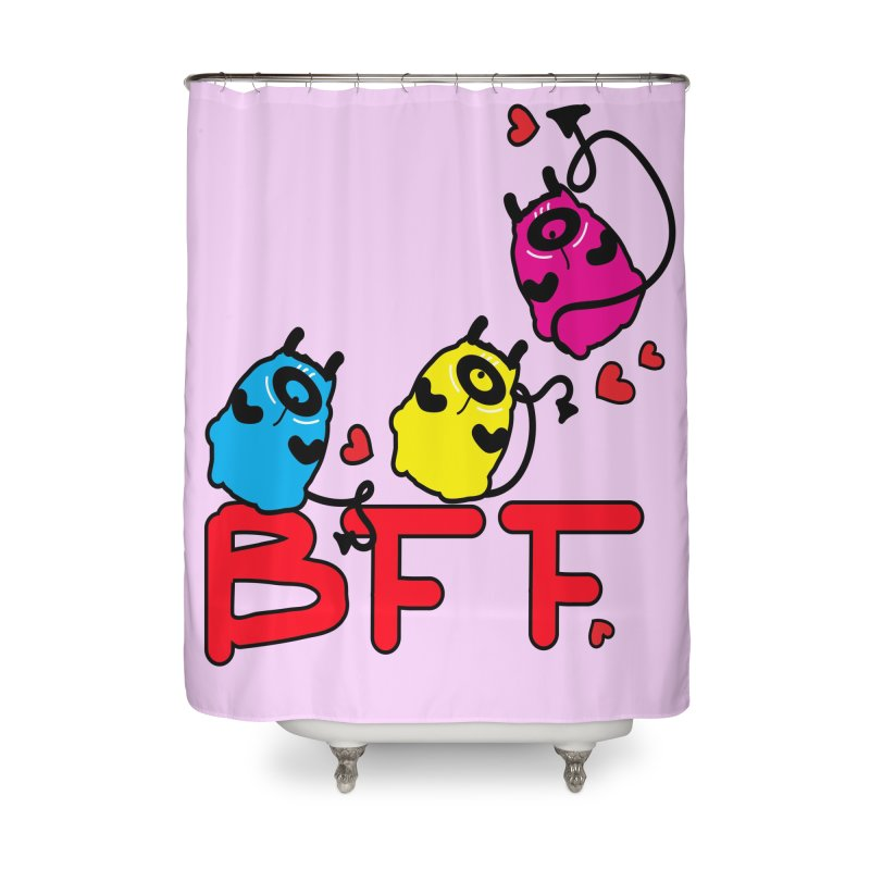 BFF MONSTERS Home Shower Curtain by cindyshim's Artist Shop