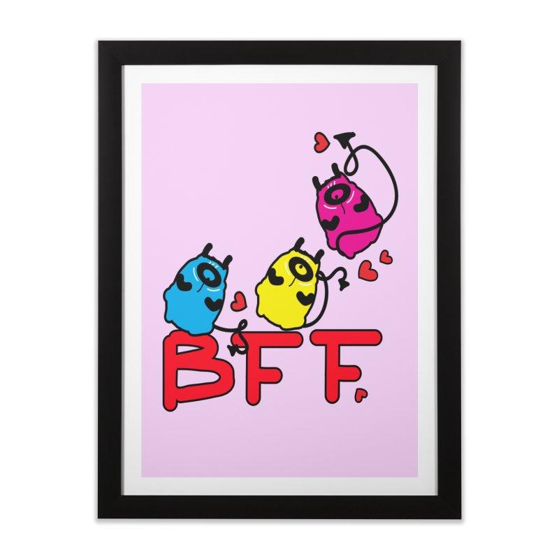 BFF MONSTERS Home Framed Fine Art Print by cindyshim's Artist Shop