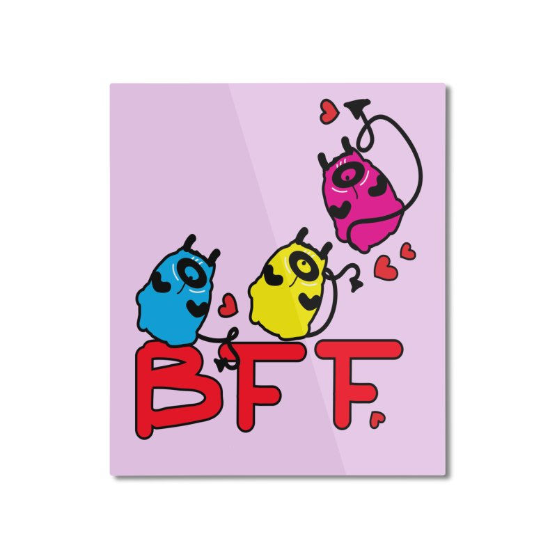 BFF MONSTERS Home Mounted Aluminum Print by cindyshim's Artist Shop