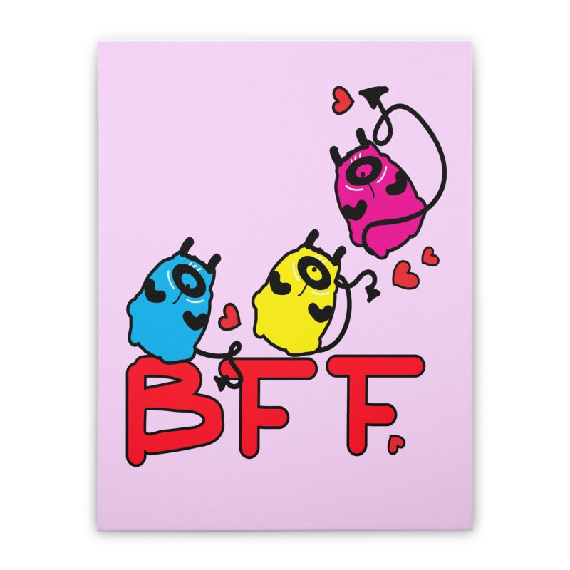BFF MONSTERS Home Stretched Canvas by cindyshim's Artist Shop