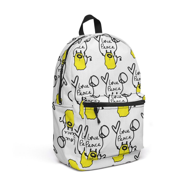 Love Peace Monster Accessories Backpack Bag by cindyshim's Artist Shop