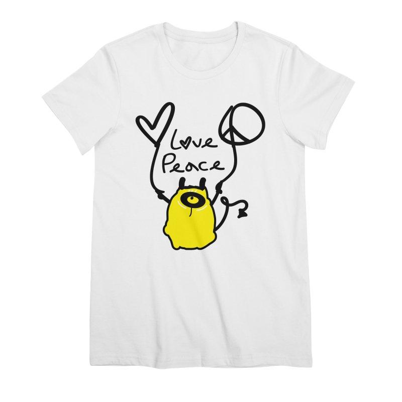 Love Peace Monster Women's Premium T-Shirt by cindyshim's Artist Shop