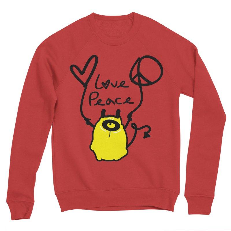 Love Peace Monster Men's Sponge Fleece Sweatshirt by cindyshim's Artist Shop