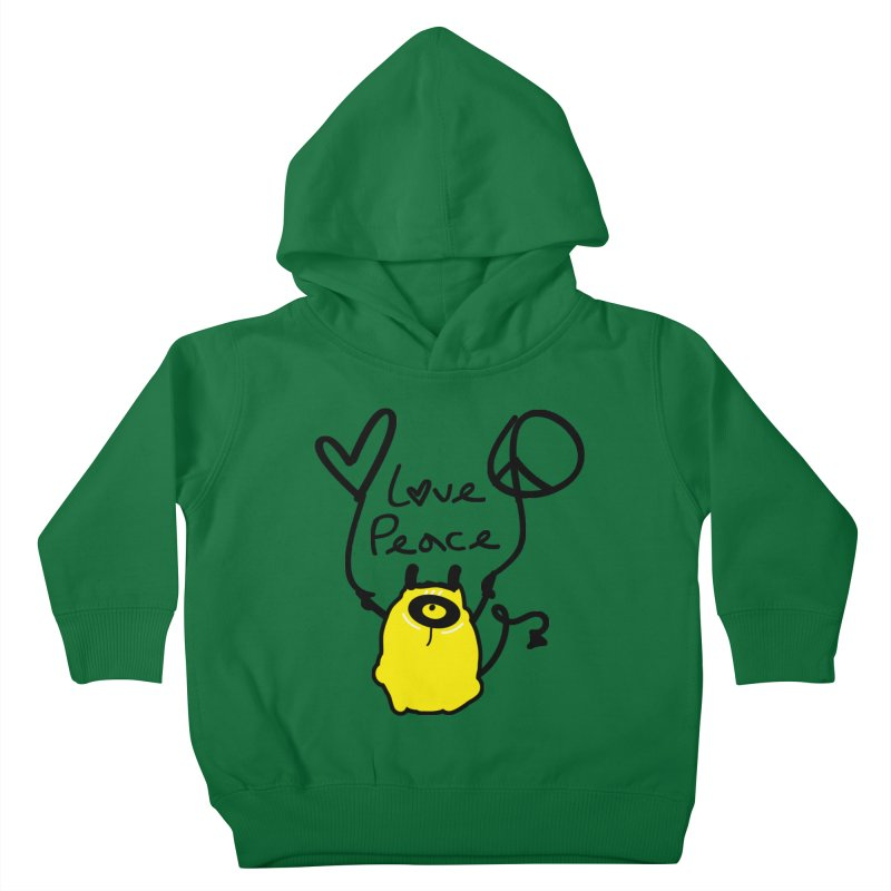 Love Peace Monster Kids Toddler Pullover Hoody by cindyshim's Artist Shop