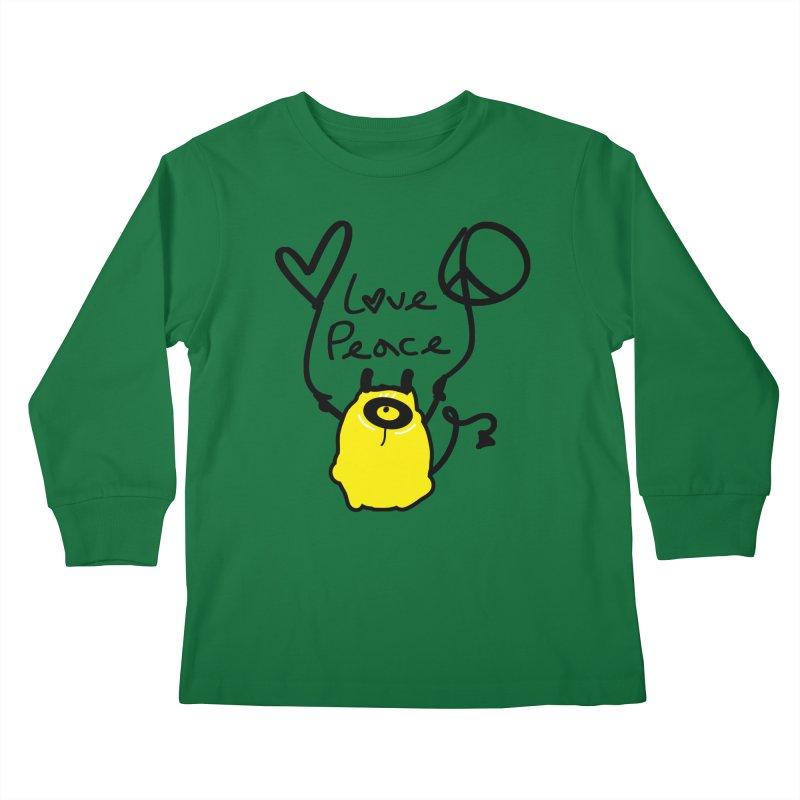 Love Peace Monster Kids Longsleeve T-Shirt by cindyshim's Artist Shop