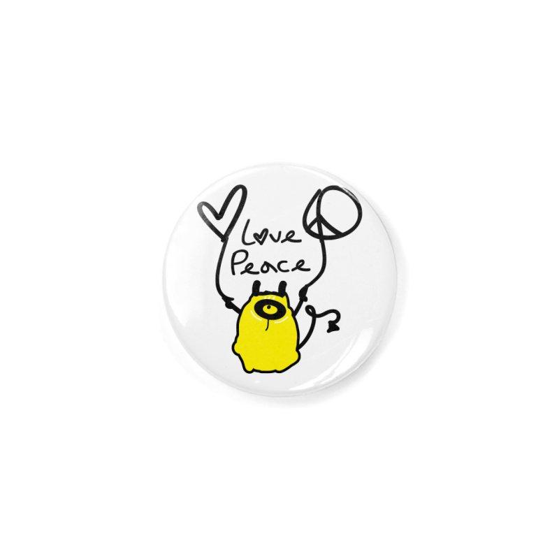 Love Peace Monster Accessories Button by cindyshim's Artist Shop