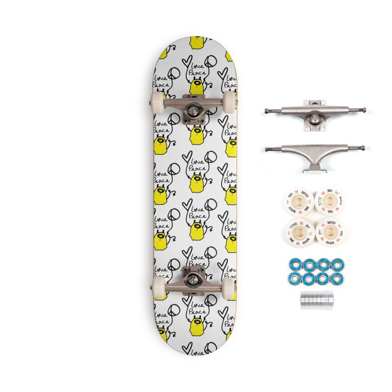 Love Peace Monster Accessories Complete - Premium Skateboard by cindyshim's Artist Shop