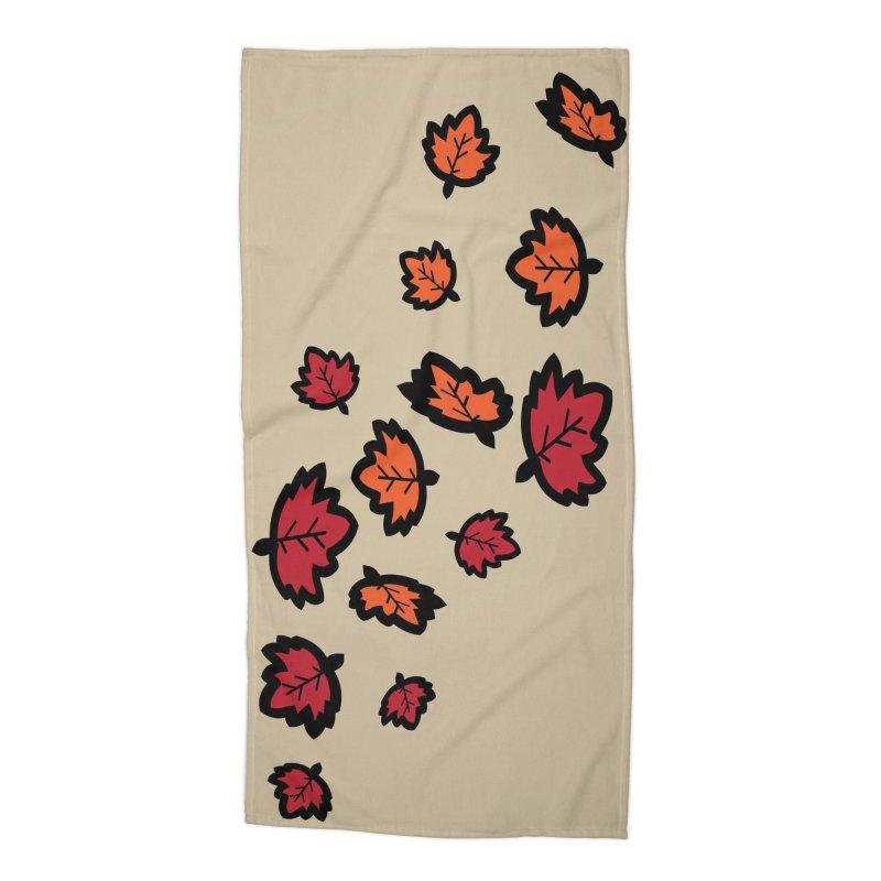 Autumn maple leaves Accessories Beach Towel by cindyshim's Artist Shop