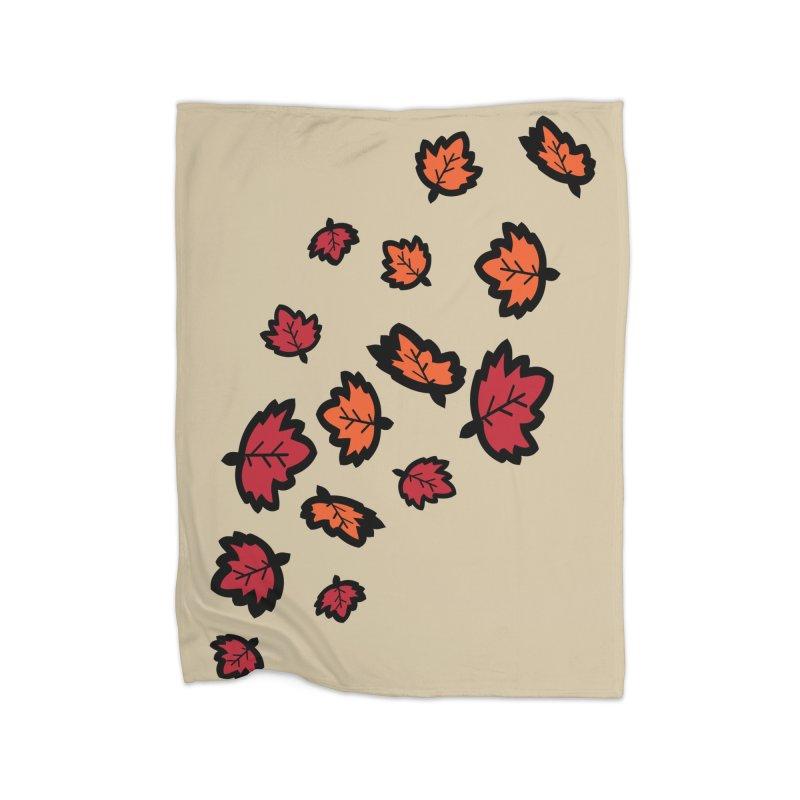 Autumn maple leaves Home Fleece Blanket Blanket by cindyshim's Artist Shop