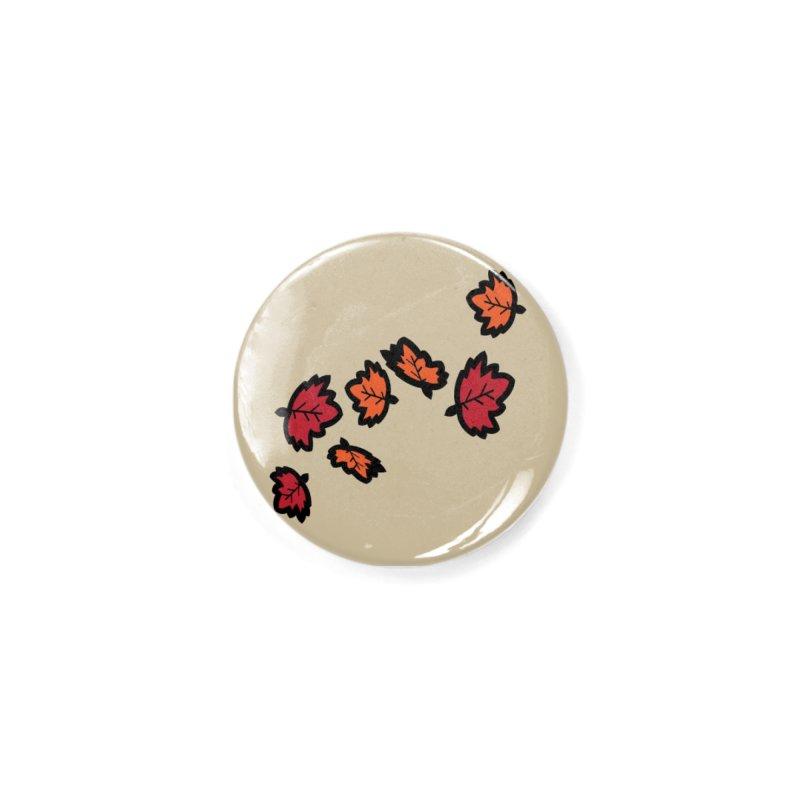 Autumn maple leaves Accessories Button by cindyshim's Artist Shop