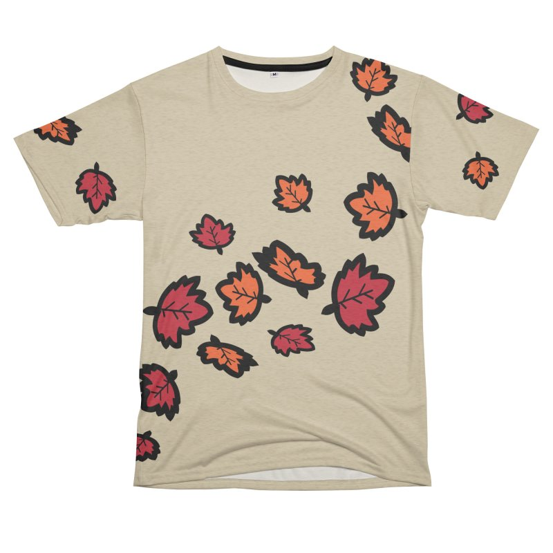 Autumn maple leaves Women's Unisex French Terry T-Shirt Cut & Sew by cindyshim's Artist Shop