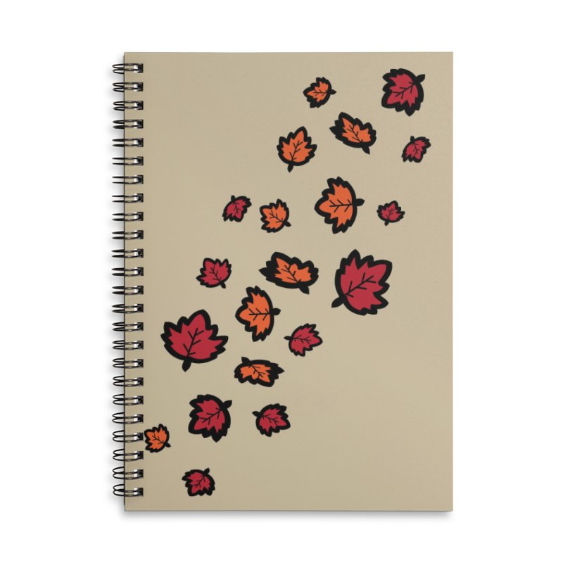Autumn maple leaves Accessories Lined Spiral Notebook by cindyshim's Artist Shop