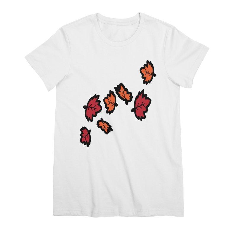 Autumn maple leaves Women's Premium T-Shirt by cindyshim's Artist Shop
