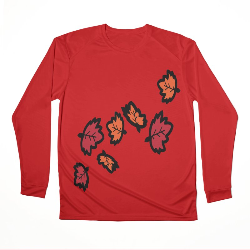 Autumn maple leaves Men's Performance Longsleeve T-Shirt by cindyshim's Artist Shop