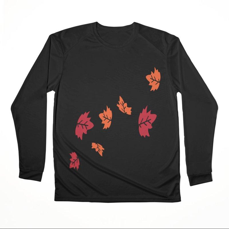 Autumn maple leaves Women's Performance Unisex Longsleeve T-Shirt by cindyshim's Artist Shop