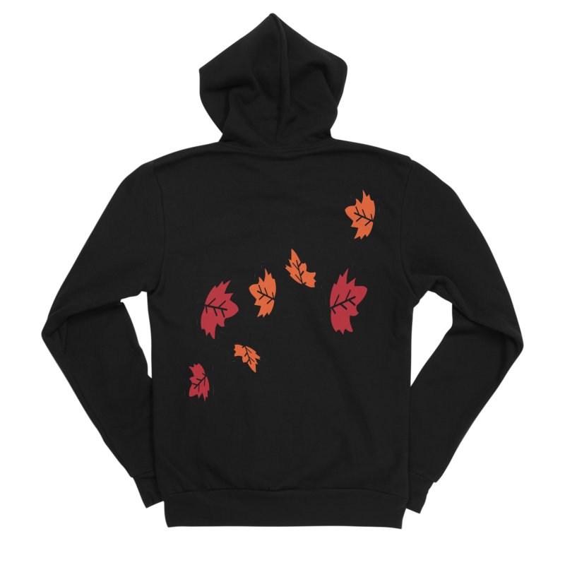 Autumn maple leaves Men's Sponge Fleece Zip-Up Hoody by cindyshim's Artist Shop