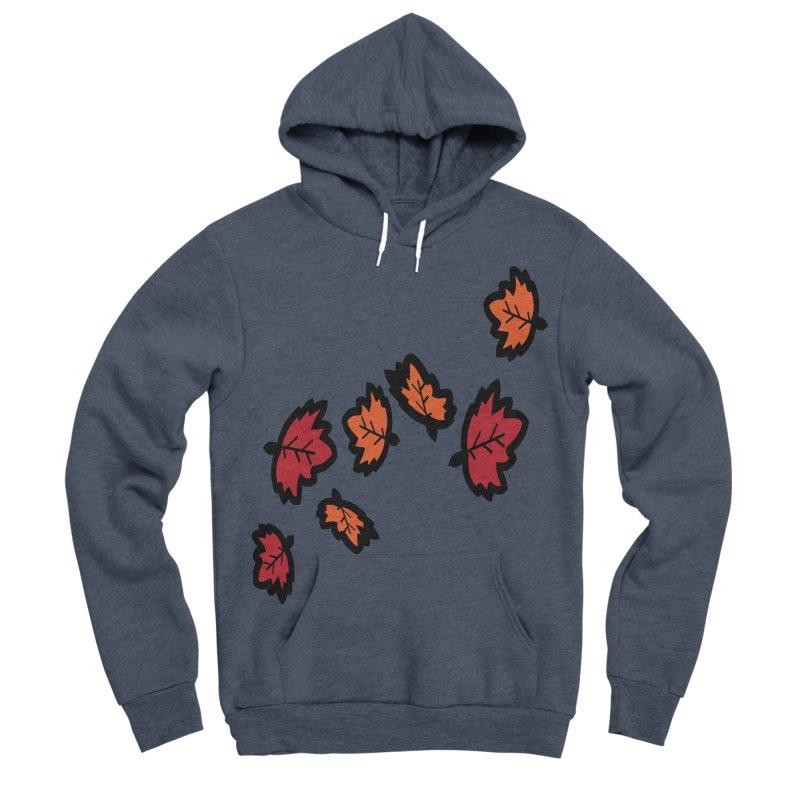 Autumn maple leaves Men's Sponge Fleece Pullover Hoody by cindyshim's Artist Shop