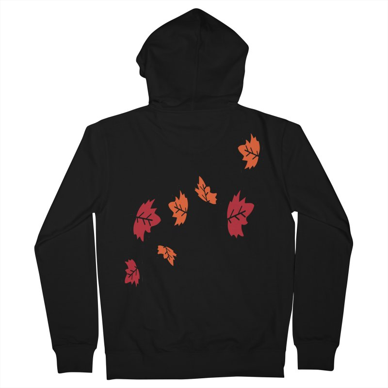 Autumn maple leaves Women's French Terry Zip-Up Hoody by cindyshim's Artist Shop