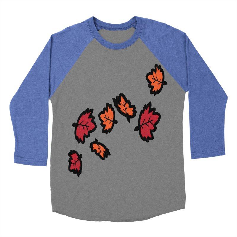 Autumn maple leaves Women's Baseball Triblend Longsleeve T-Shirt by cindyshim's Artist Shop